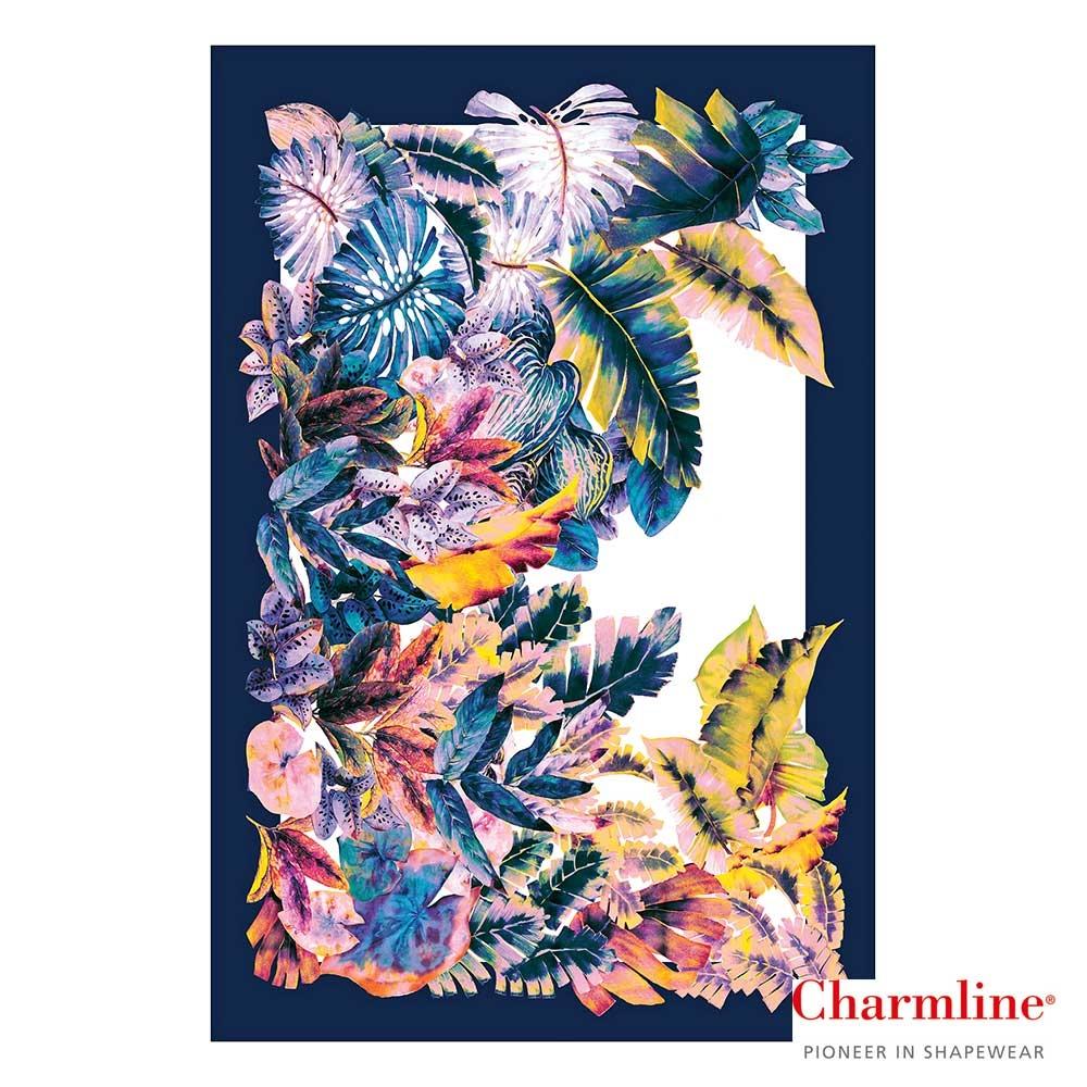 Charmline Pareo Tropical Escape mit buntem Blättermotiv