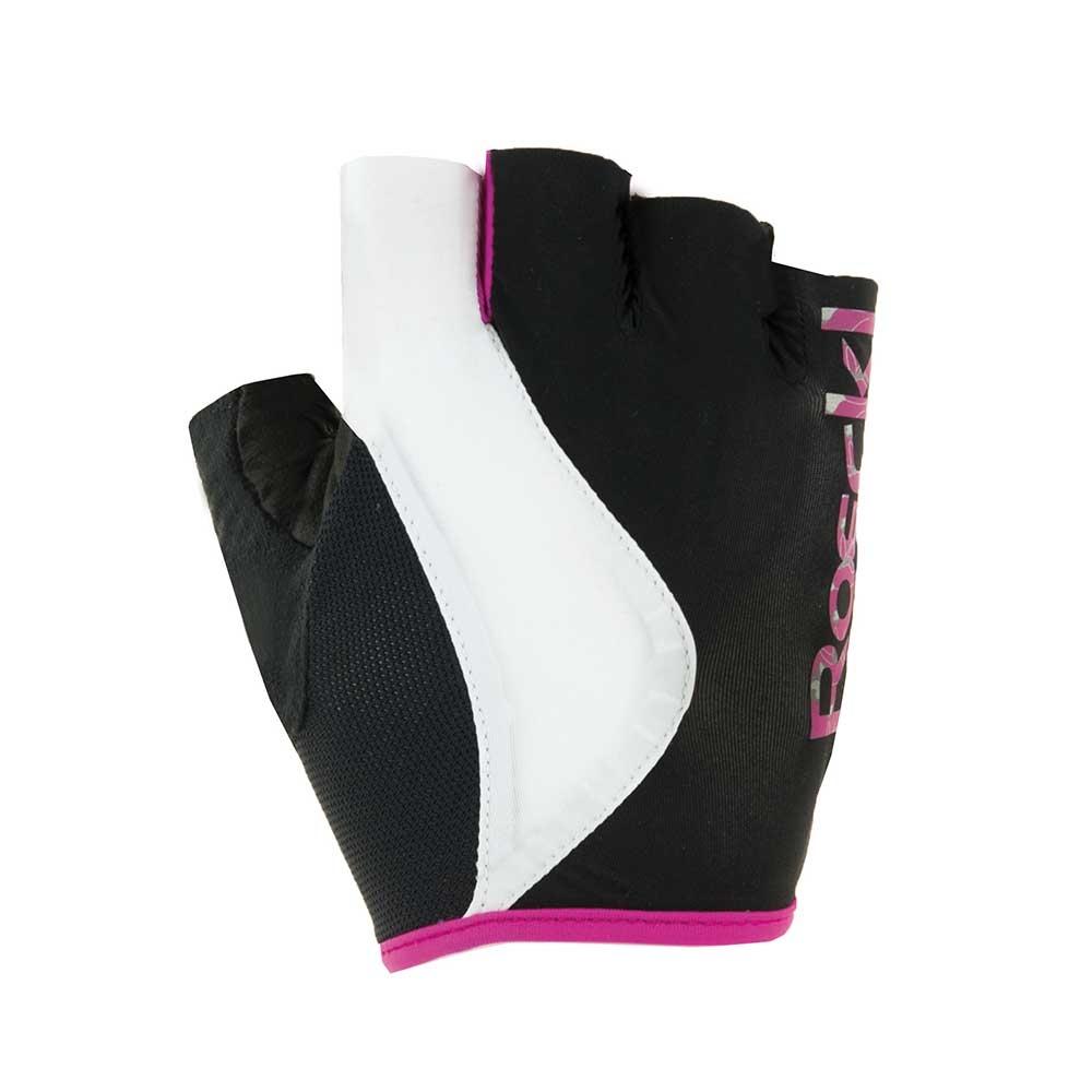schwarz-pink| Roeckl DELIA Fahrradhandschuhe für Damen in Schwarz-Pink