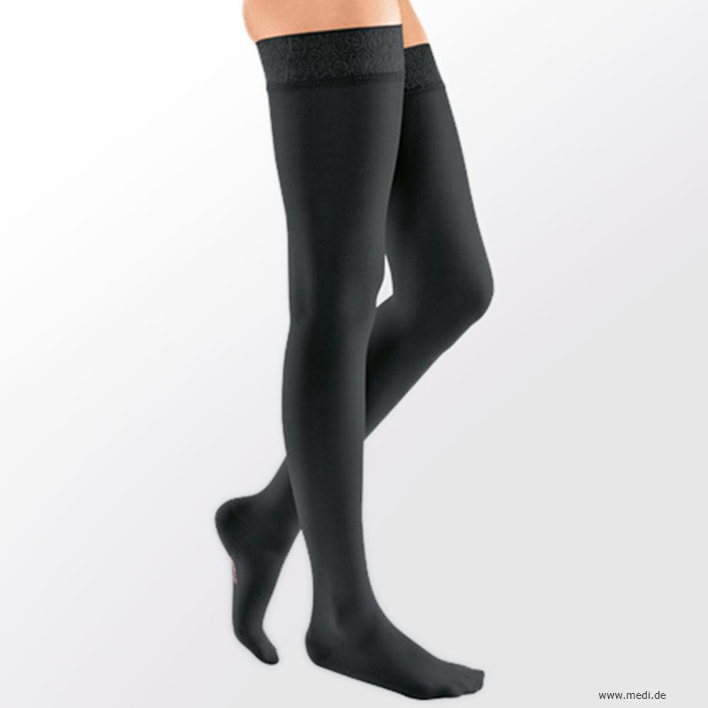 medi | mediven elegance Schenkelstrumpf, Farbe: schwarz