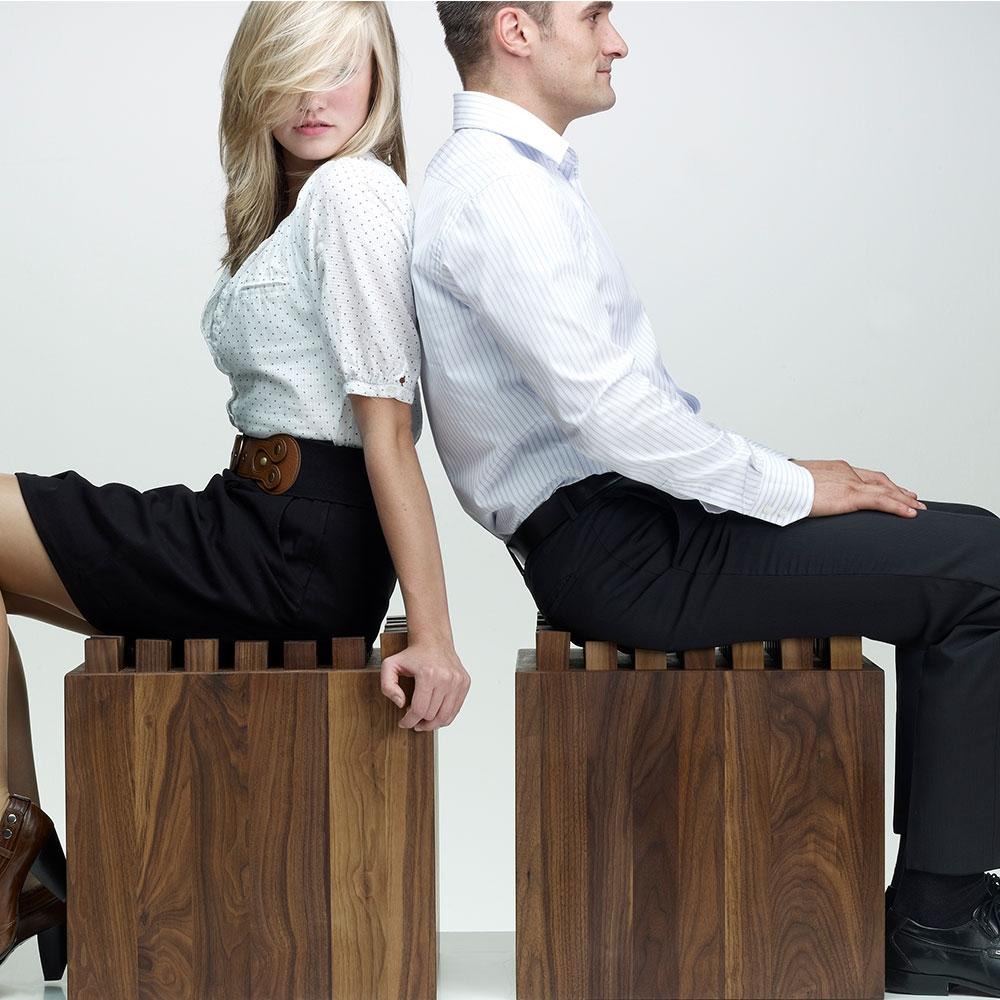 NOHrD HedgeHock Sitzwürfel aus Holz, Anwendung