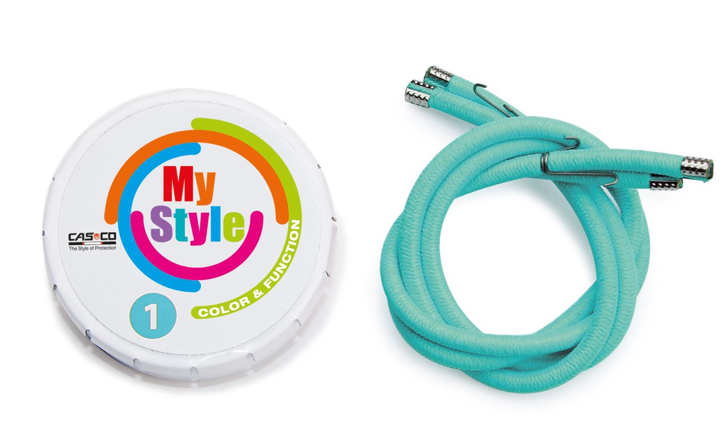 Casco MyStyle Reflektor-Streifen für den Casco Fahrradhelm, Farbbeilspiel: bianchi