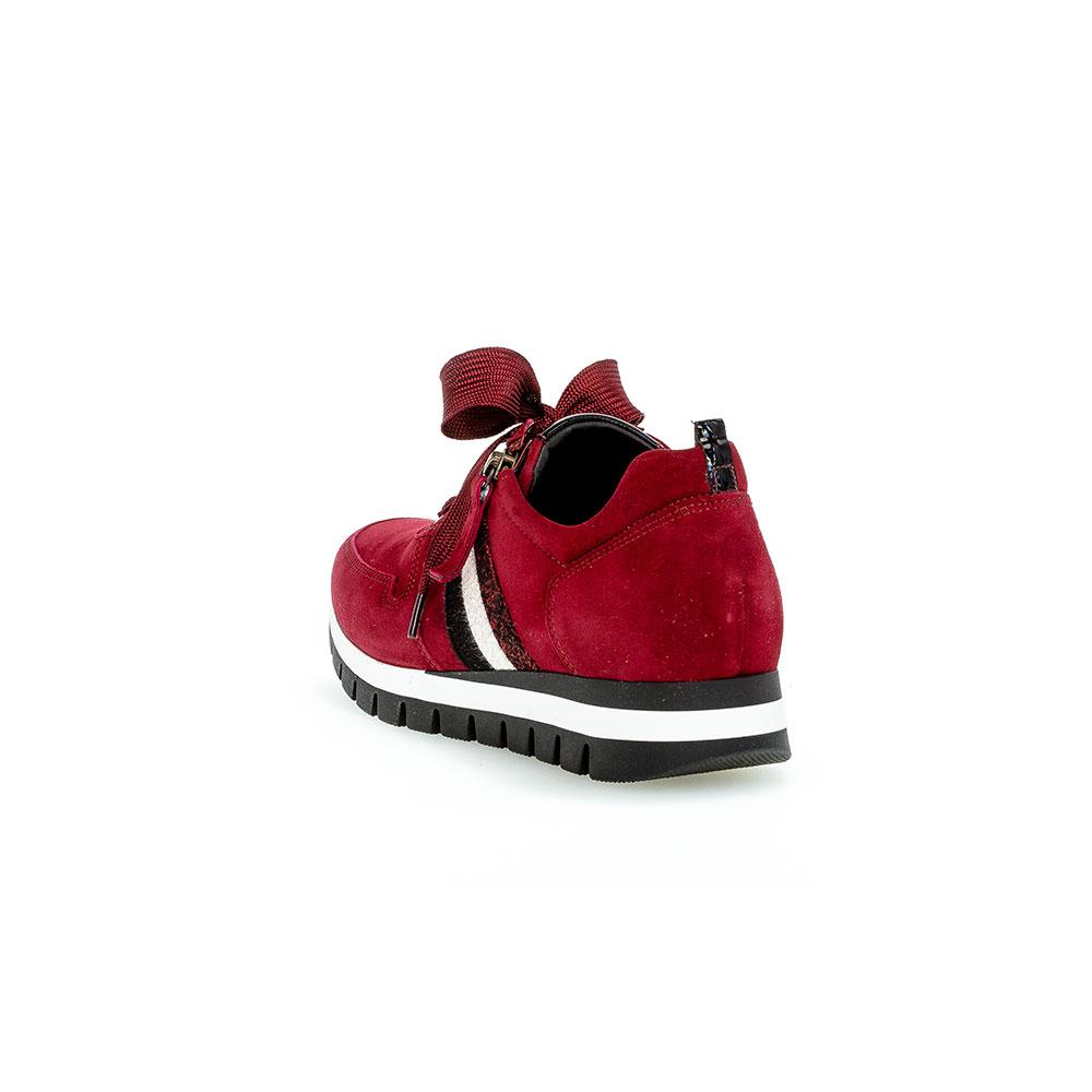 Gabor Sneaker Rot Samtchevreau - Fersenbereich