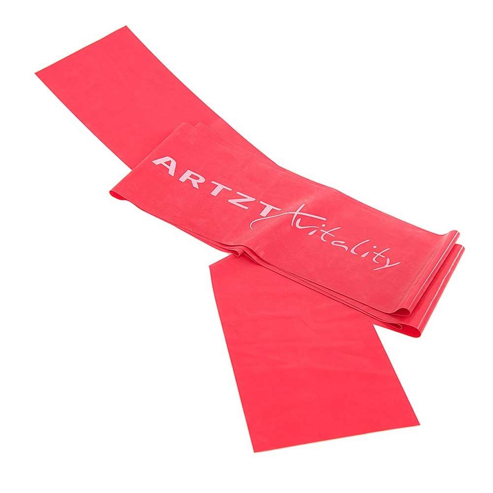 rot-mittel| ARTZT vitality Übungsband in Rot für mittelstarke Übungen