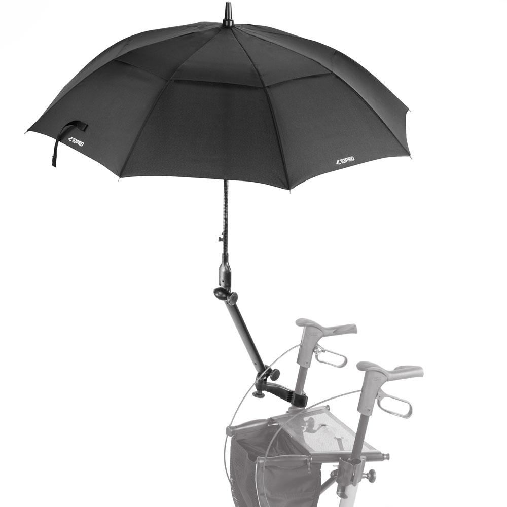 Schirm mit Multifunktionsarm für TOPRO Troja Classic in schwarz