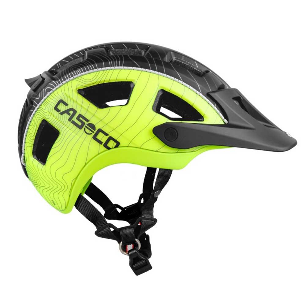 schwarz-neon| CASCO Fahrradhelm MTBE in Schwarz-Neon