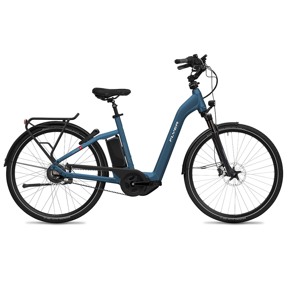 blau| FLYER E-Bike Gotour5 7.23 mit Comfort-Einstieg, Farbe: Jeansblue gloss