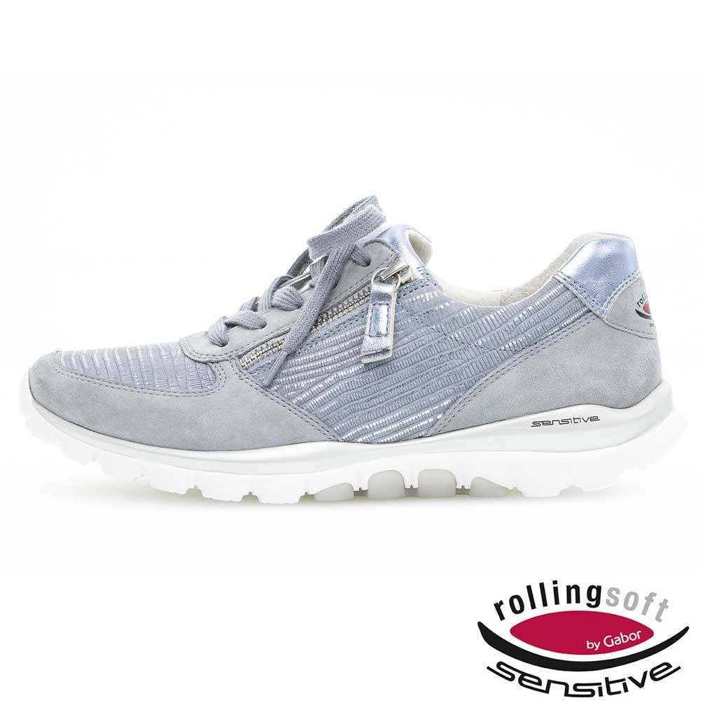 blau| Bequeme Gabor Sneaker Cielo in Himmelblau