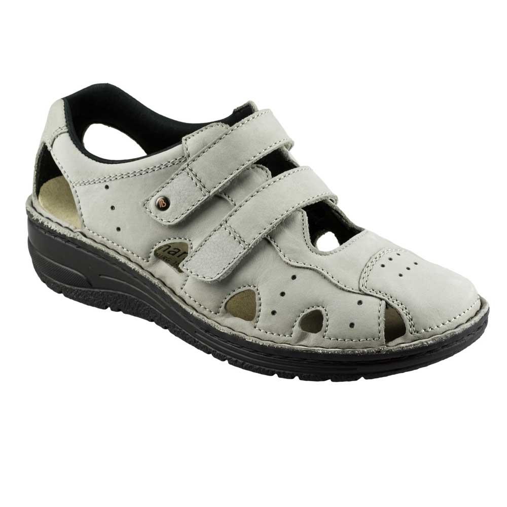 Grau   Berkemann Larena Sandale aus der Berkoflex-Linie, Trekking-Sandale in Weiß, anatomisch geformtes Fußbett zum Auswechseln