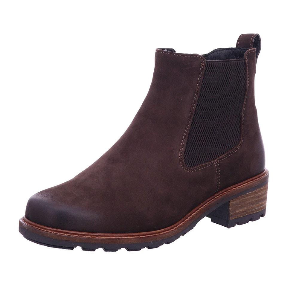 Solidus Chelsea-Boots Kinga in Braun und aus weichem Leder