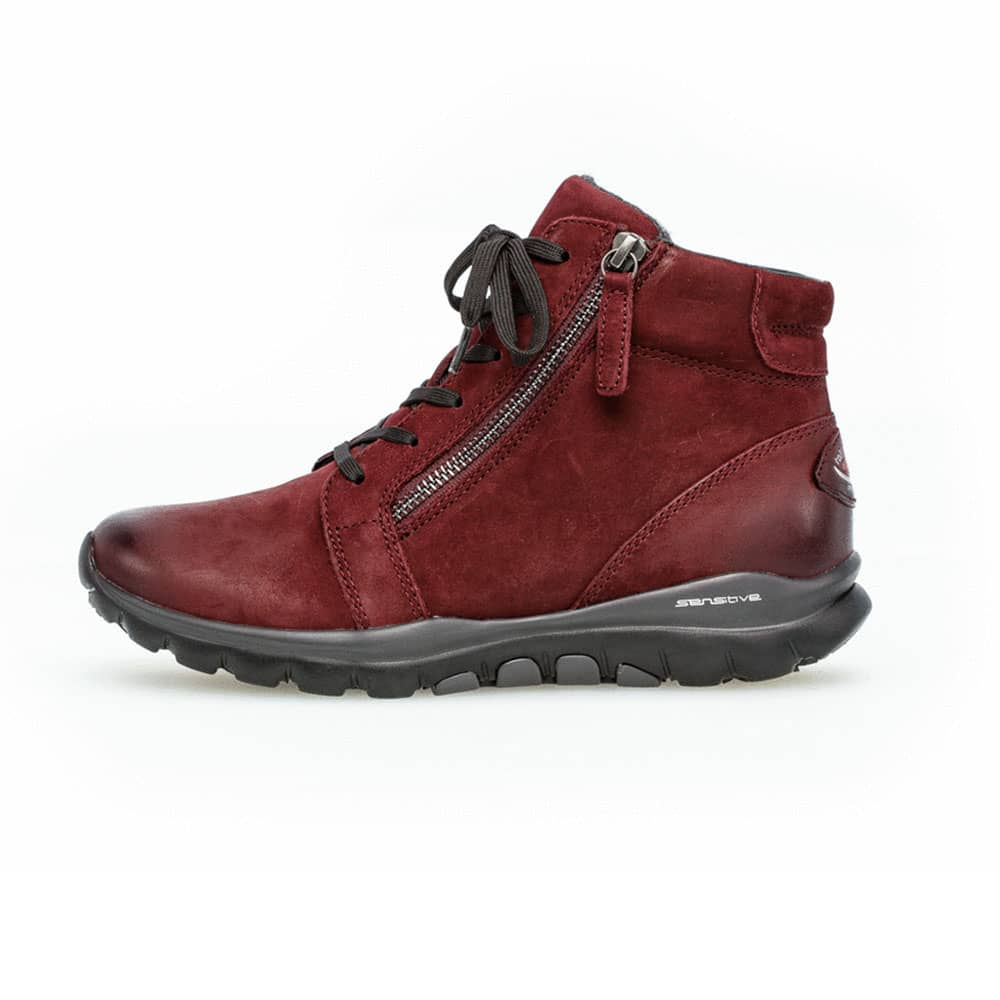 Gabor Rollingsoft sensitive High-Top Sneaker in rot