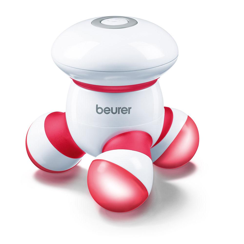 beurer Mini-Massagegerät MG 16, Farbe: weiß-rot