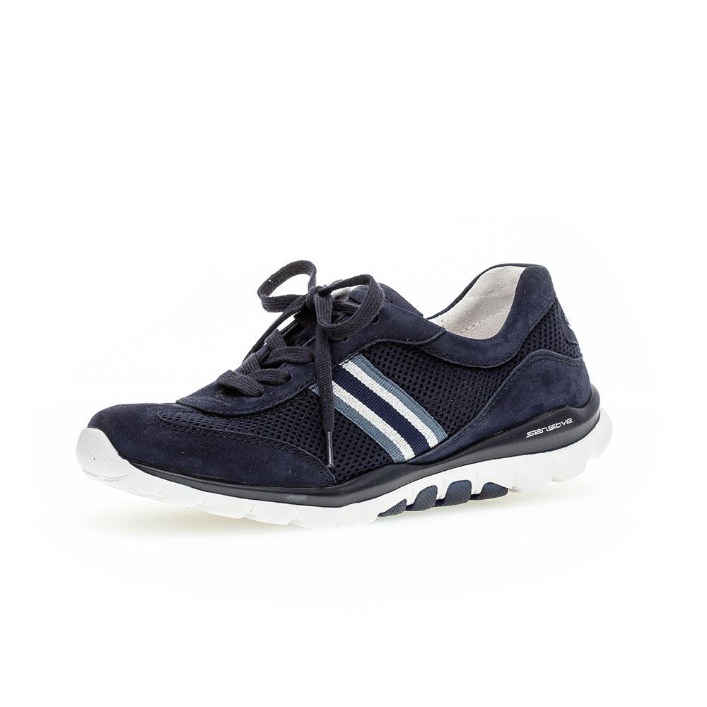 Gabor Rollingsoft Sneaker Mesh in Blau - Außenansicht vorne