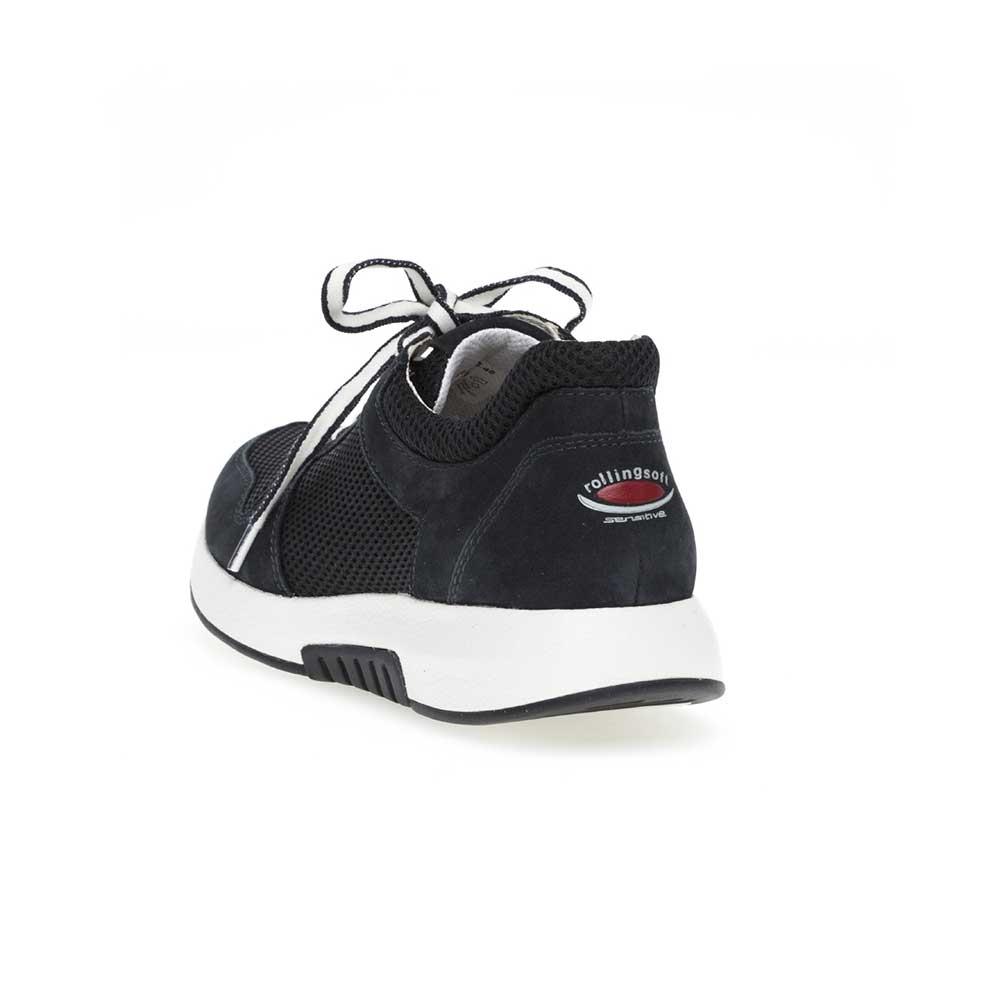 Gabor Rollingsoft sensitive Sneaker Mesh - Logoaufdruck an der Fersenkappe