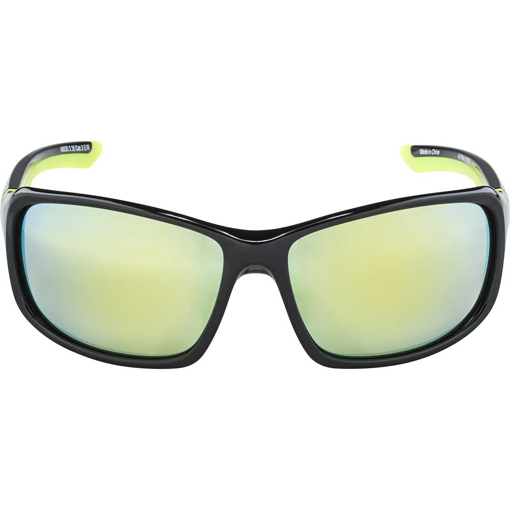 black-neon-yellow| Alpina Sportbrille Lyron in der Farbe Black Neon-Yellow