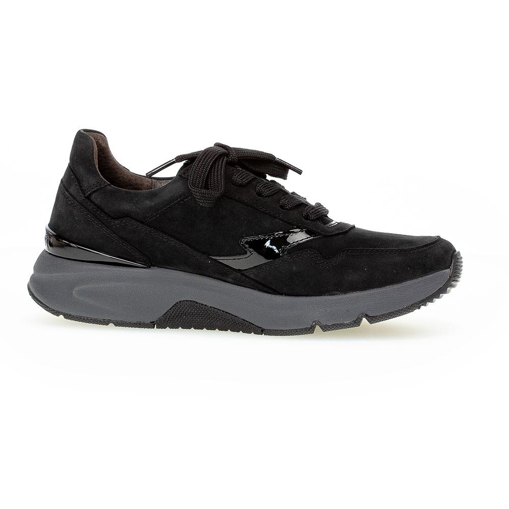 Gabor Rollingsoft Sneaker in Schwarz - Seitenansicht