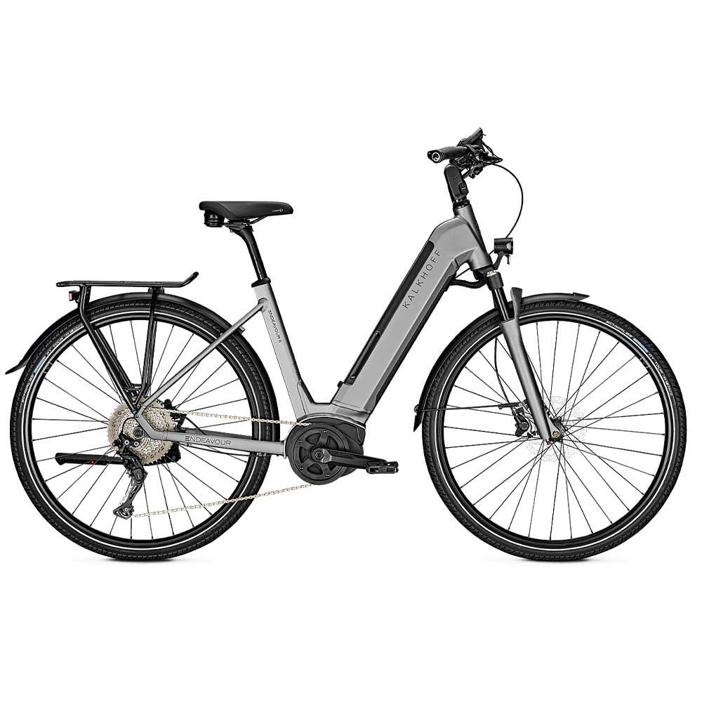 grau| Kalkhoff E-Bike Endeavour 5.B Advance, Waverahmen mit tiefem Einstieg, Farbe: Grey