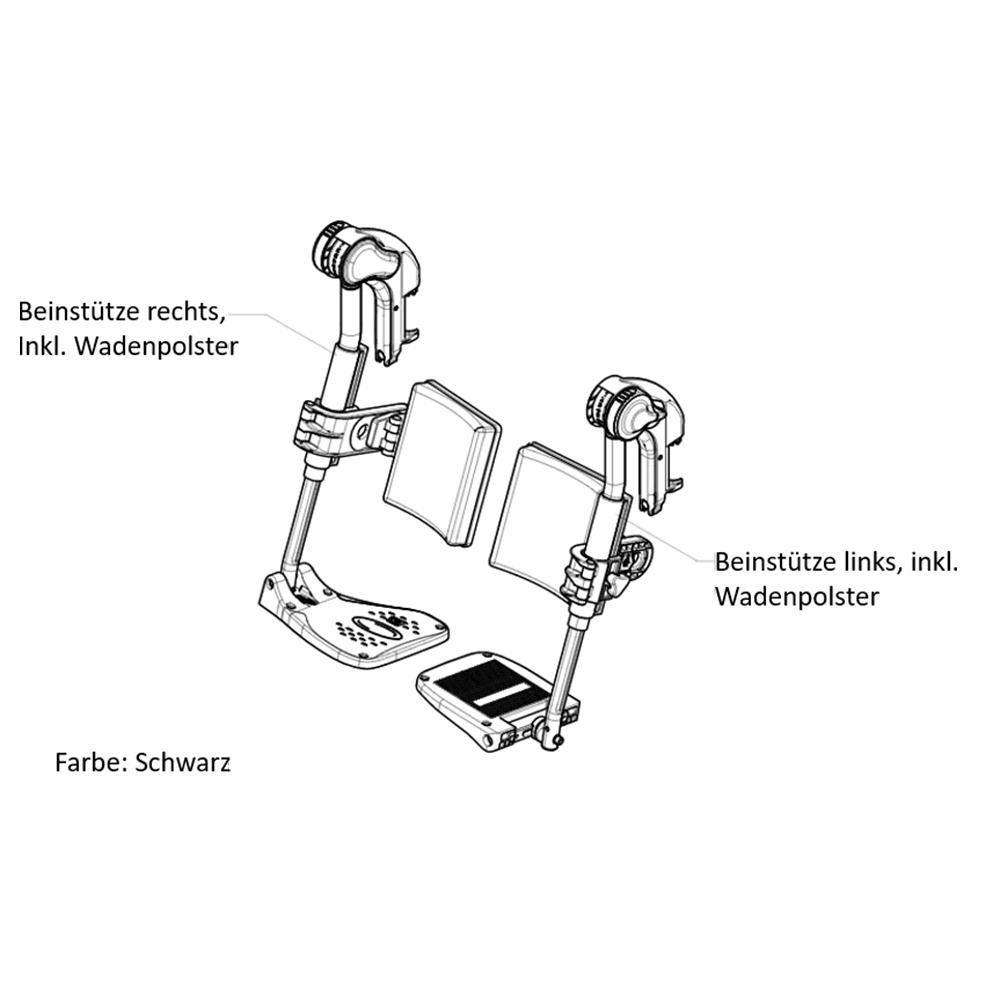 Beinstütze von Invacare für Action Rollstühle