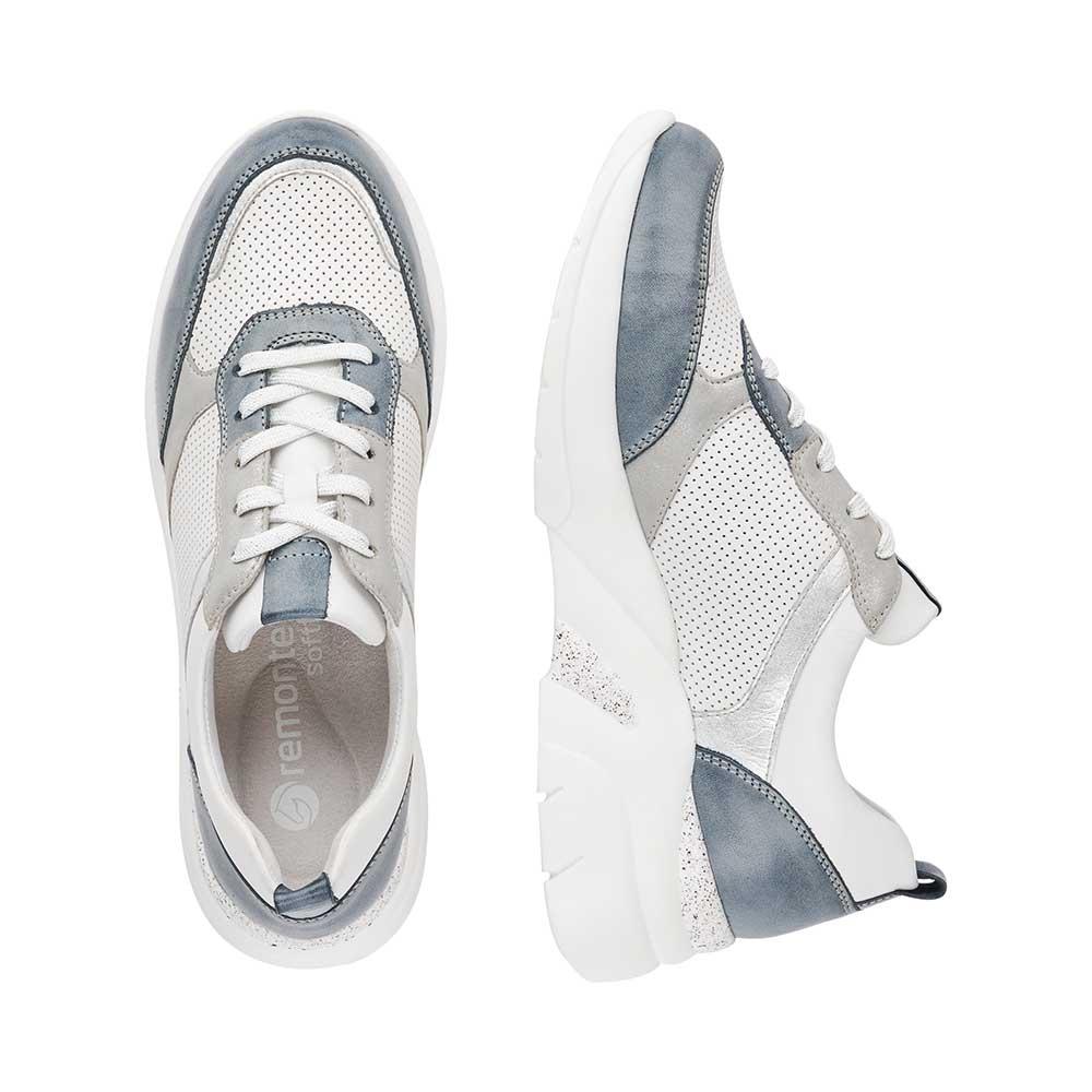 Remonte Damen Soft Sneaker White-Grey - Ansicht Paar