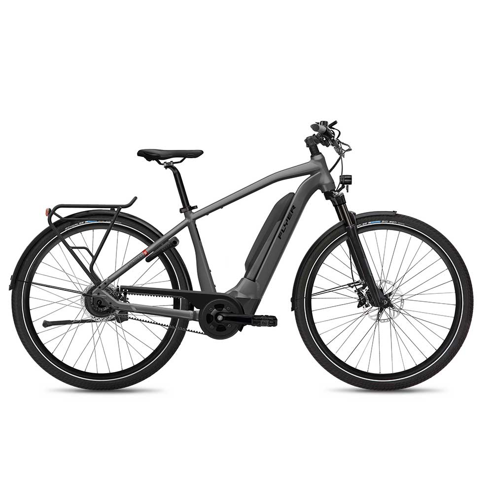 FLYER E-Bike Upstreet5 7.12, Gents Herrenrahmen, Farbe: Anthracite Gloss