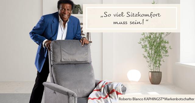 Aufstehsessel Roberto Blanco: So viel Sitzkomfort muss sein