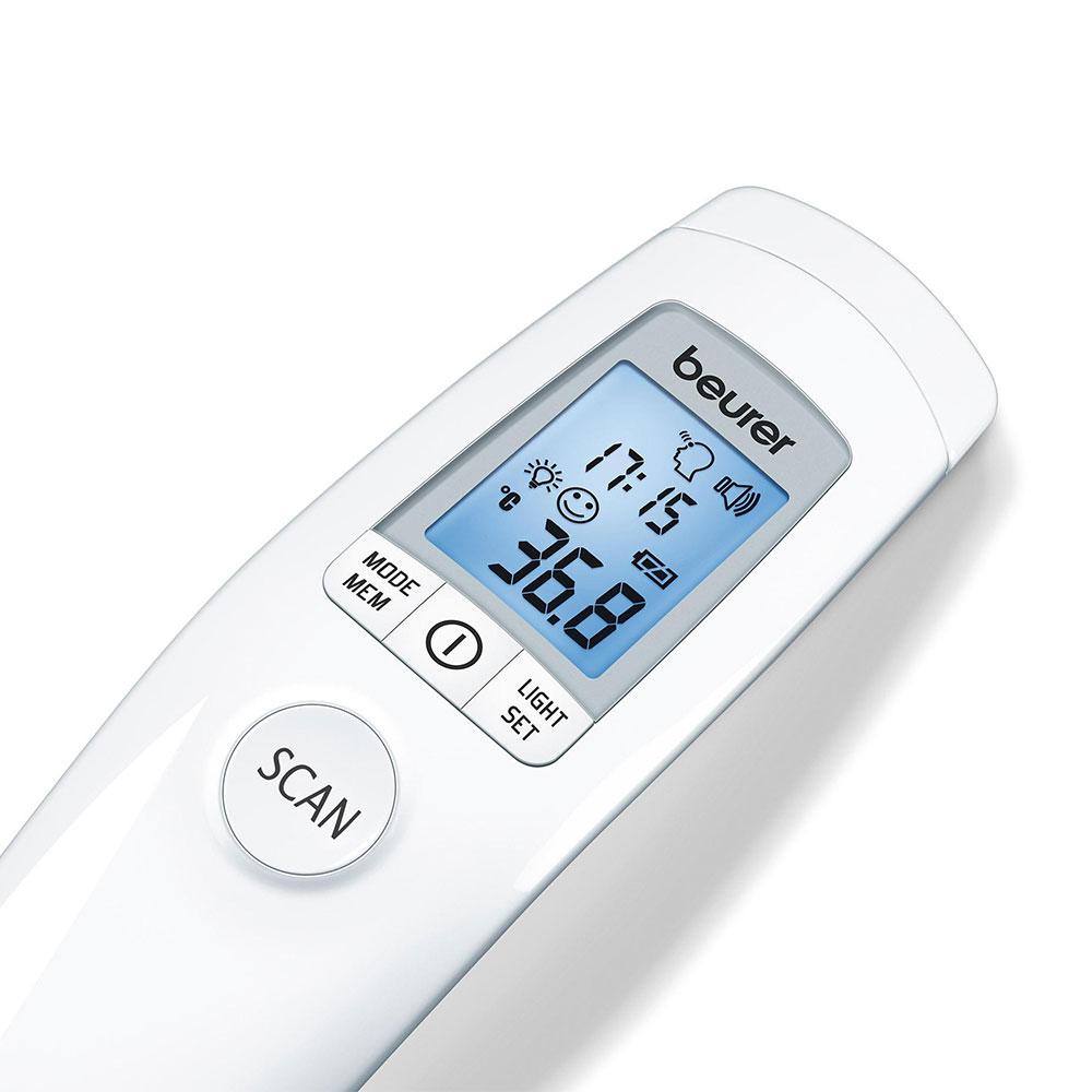 Das Beurer Fieberthermometer FT 90 mit großem, beleuchtetem Display