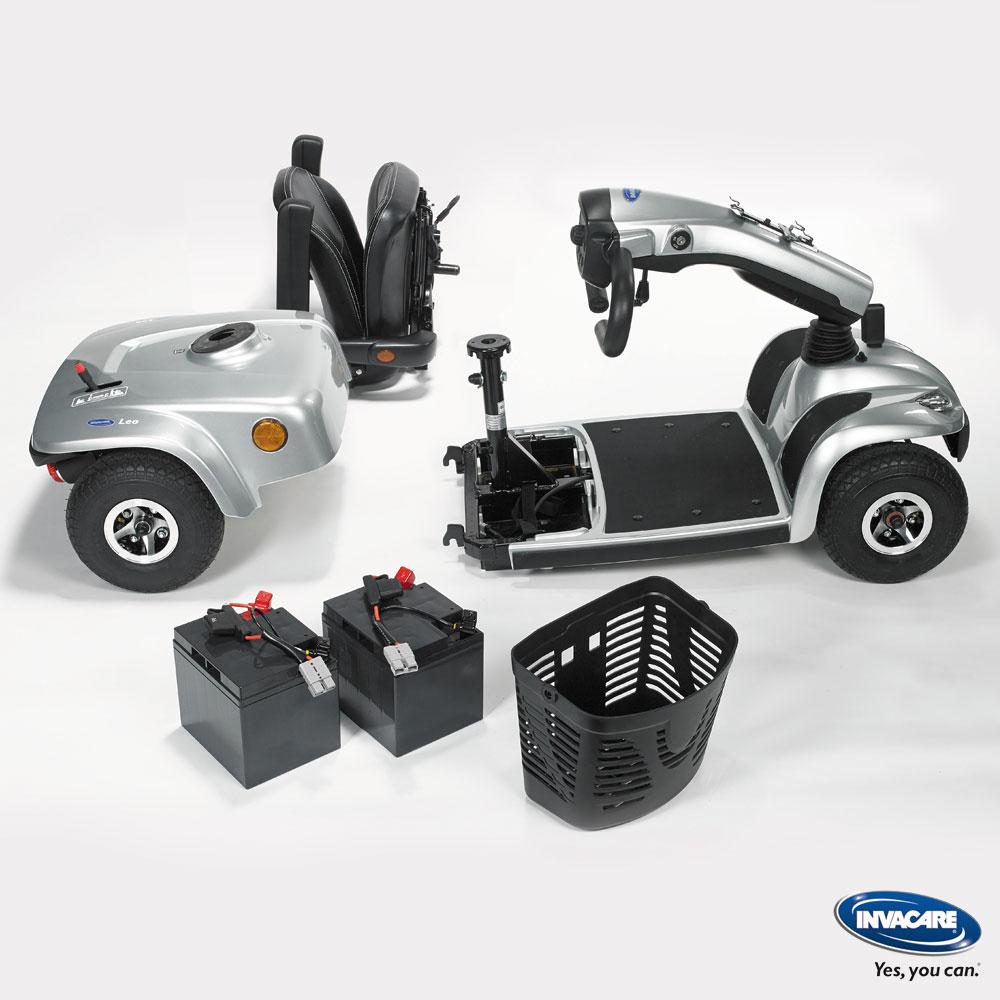 Invacare Elektromobil Leo, einfach und komplett zerlegbar für den Transport