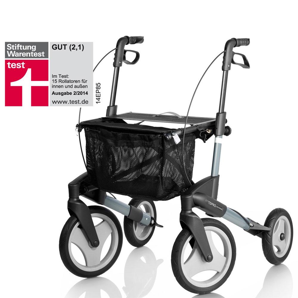 TOPRO Rollator Olympos, Testurteil gut bei Stiftung Warentest 2014
