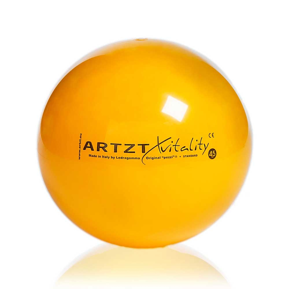 Gelb-45cm| ARTZT vitality Gymnastikball Standard, 45 cm, Farbe: Gelb