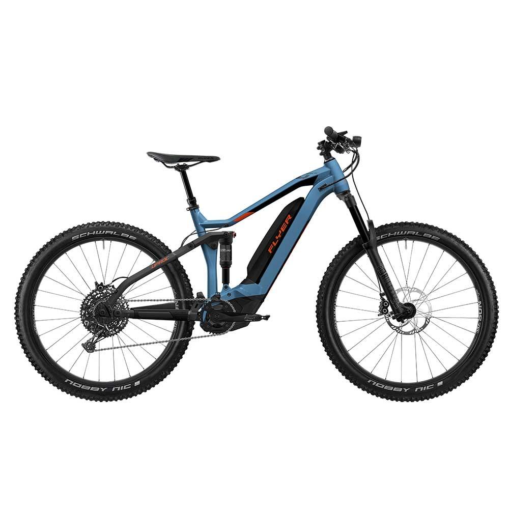 blau| FLYER E-Bike Uproc4 6.50 in der Farbe Jeansblue-Magmared