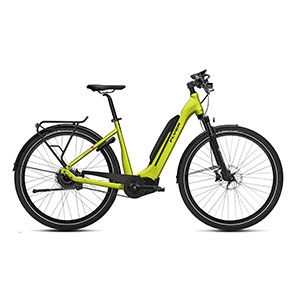 limegreen| FLYER E-Bike Upstreet 5 7.03, Tiefeinsteigerrahmen limegreen