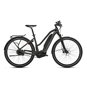 anthrazit| FLYER E-Bike Upstreet 5 7.03, Trapezrahmen anthrazit