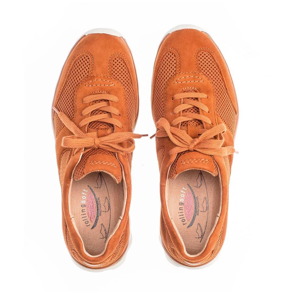 Gabor Rollingsoft sensitive  Sneaker Mesh-Rost - Schuhpaar von oben