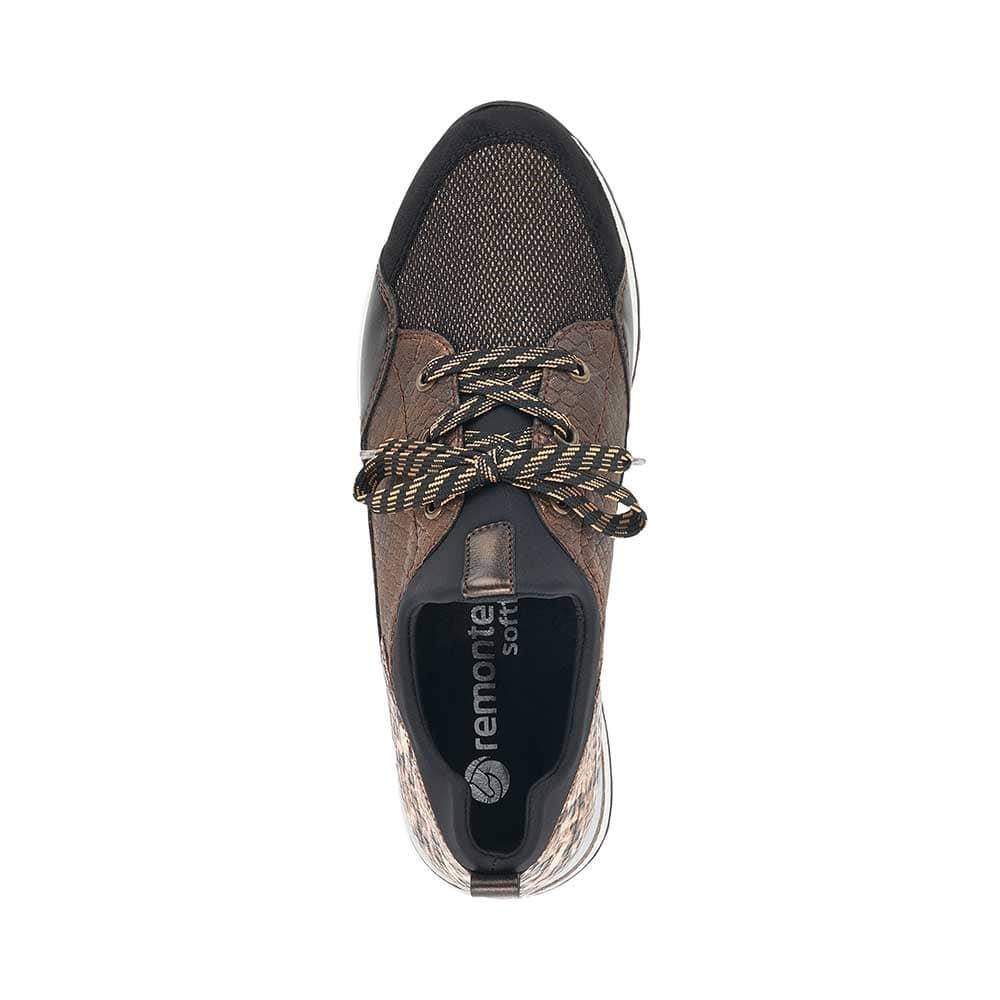 remonte-damensneaker-braun-boa-von-oben