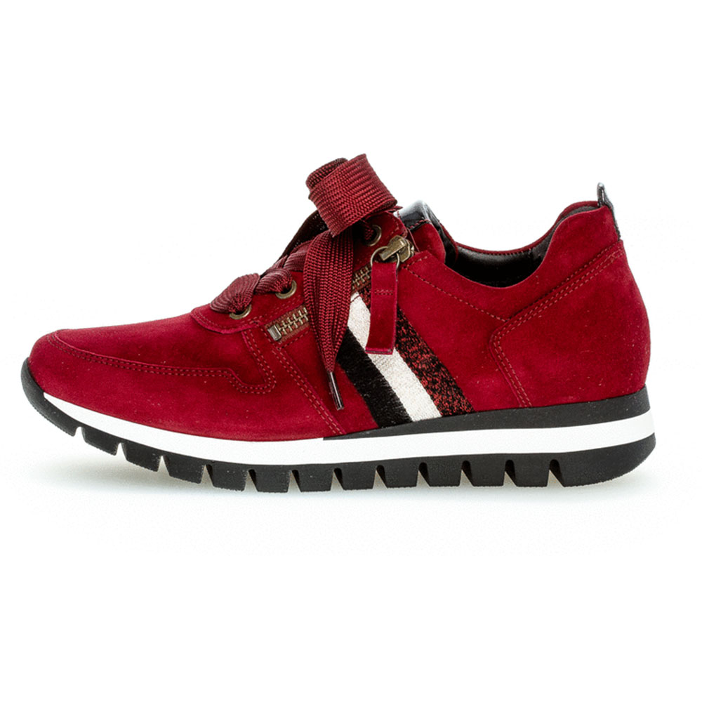 Gabor comfort Sneaker Samtchevreau Rot