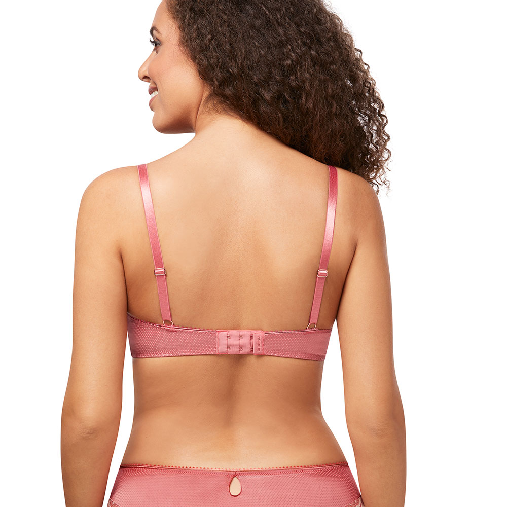 Amoena Floral Chic SB Prothesen-BH rosa Ansicht Model hinten