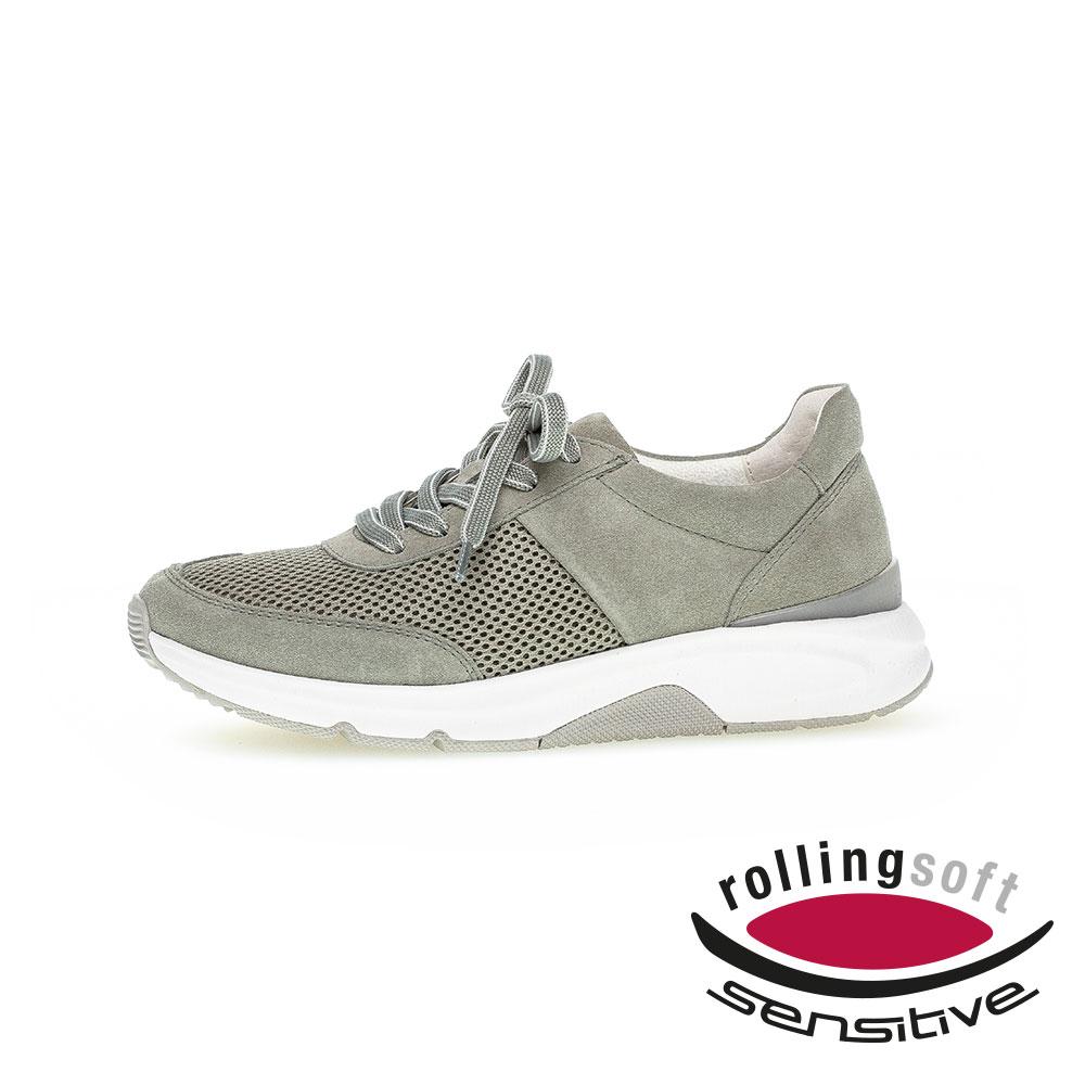 Gabor Rollingsoft Sneaker für Damen in Grün - Seitenansicht außen