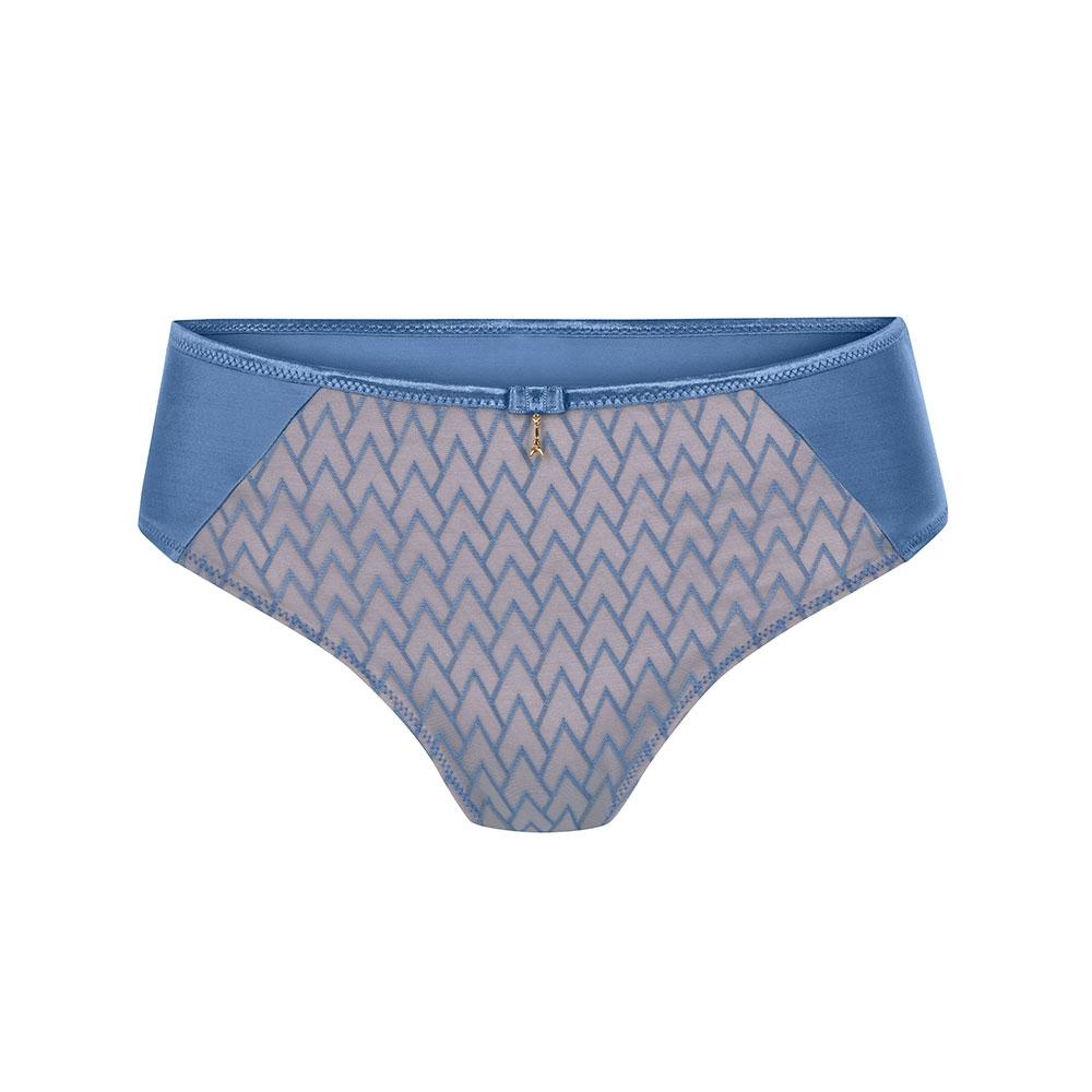 blau| Amoena Maya Panty Kornblumenblau|, Vorderseite dezent Rosa unterlegt