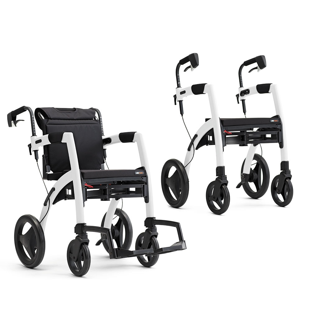 Rollz Motion 2 - Rollator und Rollstuhl in einem, leichter Umbau