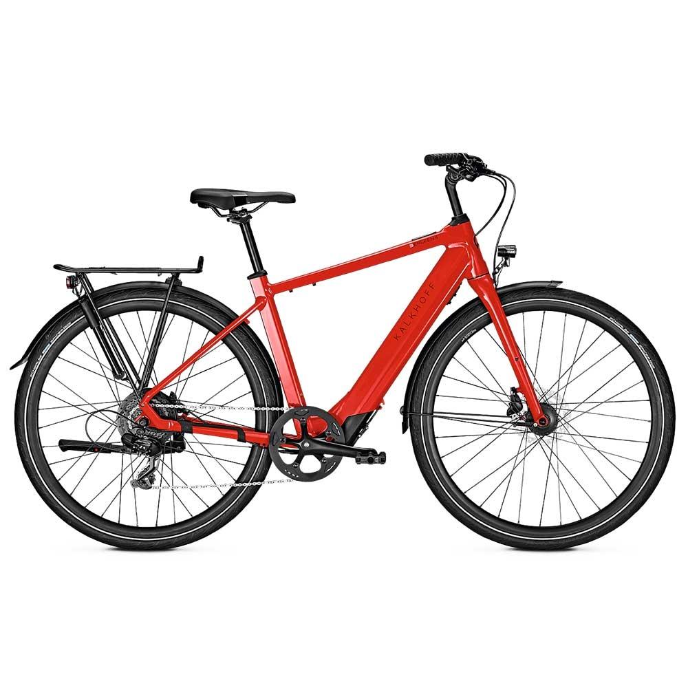 red| Kalkhoff E-Bike Berleen 5.G Move, Diamant Herrenrahmen, Farbe: Hotchillired glossy