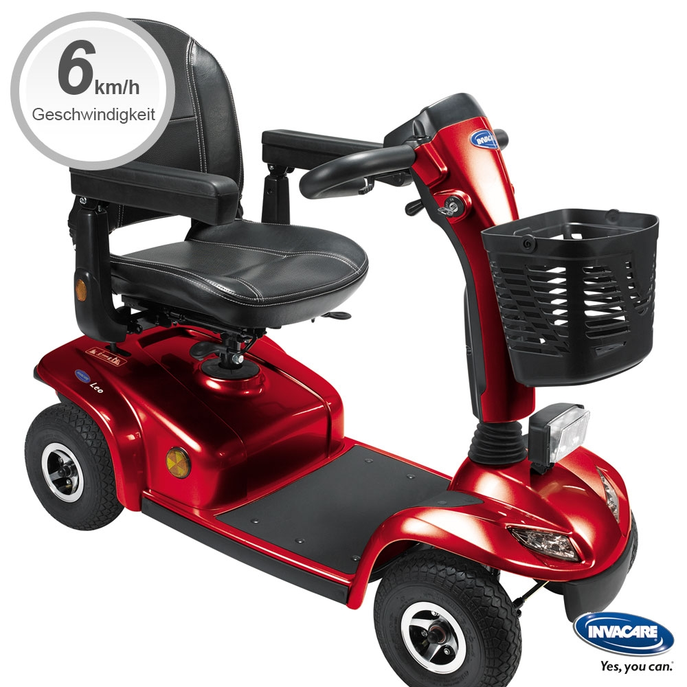 rot| Invacare Scooter Leo in Rot, 6 kmh