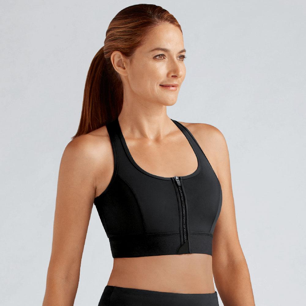 Amoena Zipper Sports Bra Basic, Farbe: Schwarz