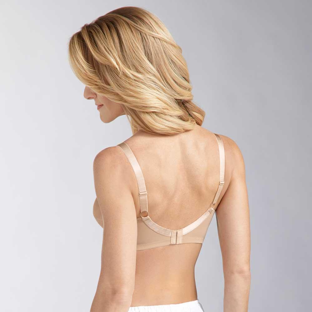 Amoena Nancy SB, Farbe: Helle Haut, glänzender Soft-BH für Prothesentaschen, Rückseite