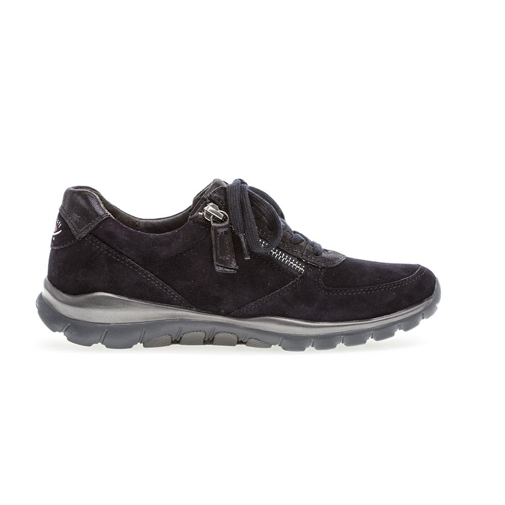 Gabor Sneaker Rollingsoft sensitive Pazifik - Ansicht Innenseite mit Reißverschluss