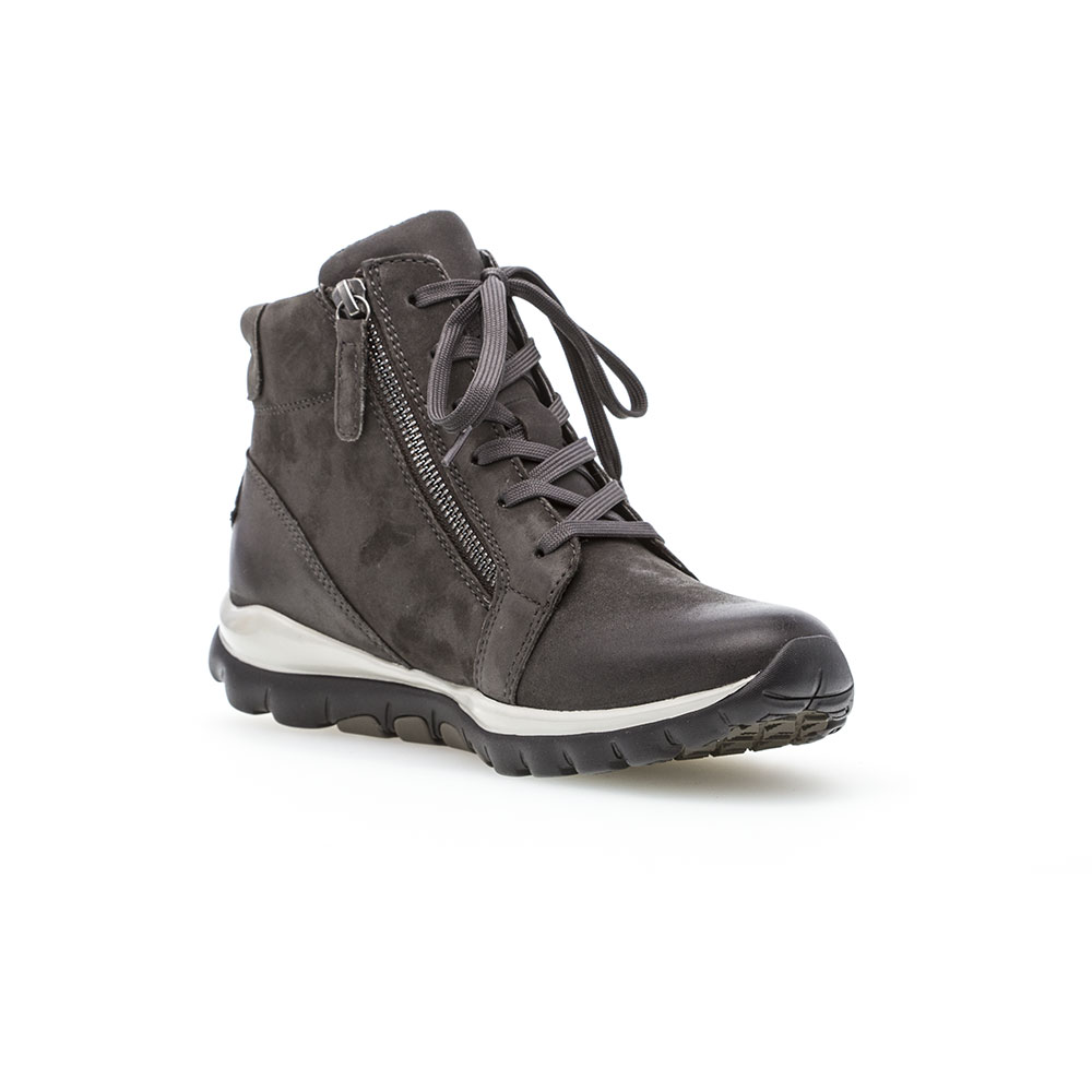 Gabor Rollingsoft sensitive High Top Sneaker  Dark Grey - Ansicht von vorne mit hochgezogener Schuhspitze