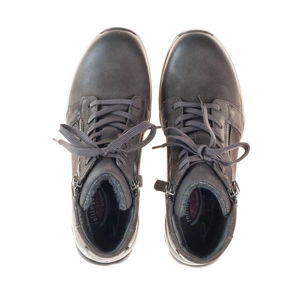Gabor Rollingsoft sensitive High Top Sneaker  Dark Grey - Ansicht Schuhpaar von oben