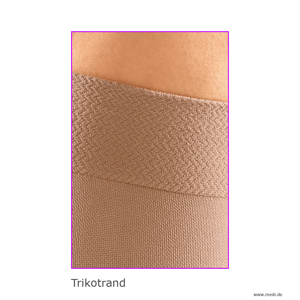 mediven elegance Kniestrumpf Trikotrand als Beinabschluss