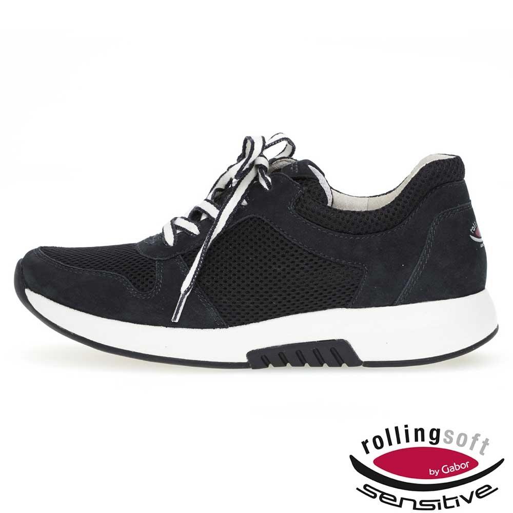 Gabor Rollingsoft sensitive Sneaker Mesh in Dunkelblau