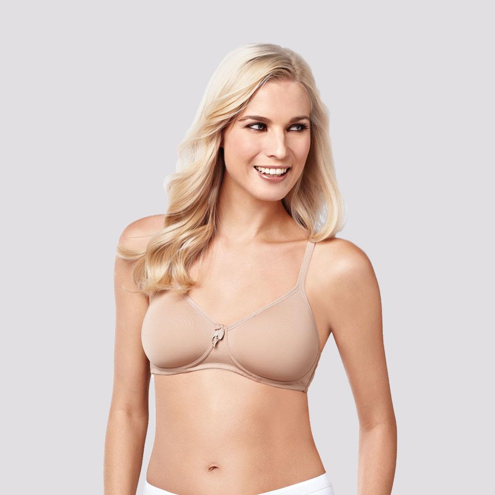 nude-haut| Amoena Lara SB T-Shirt-BH Nude mit weichen, vorgeformten Cups
