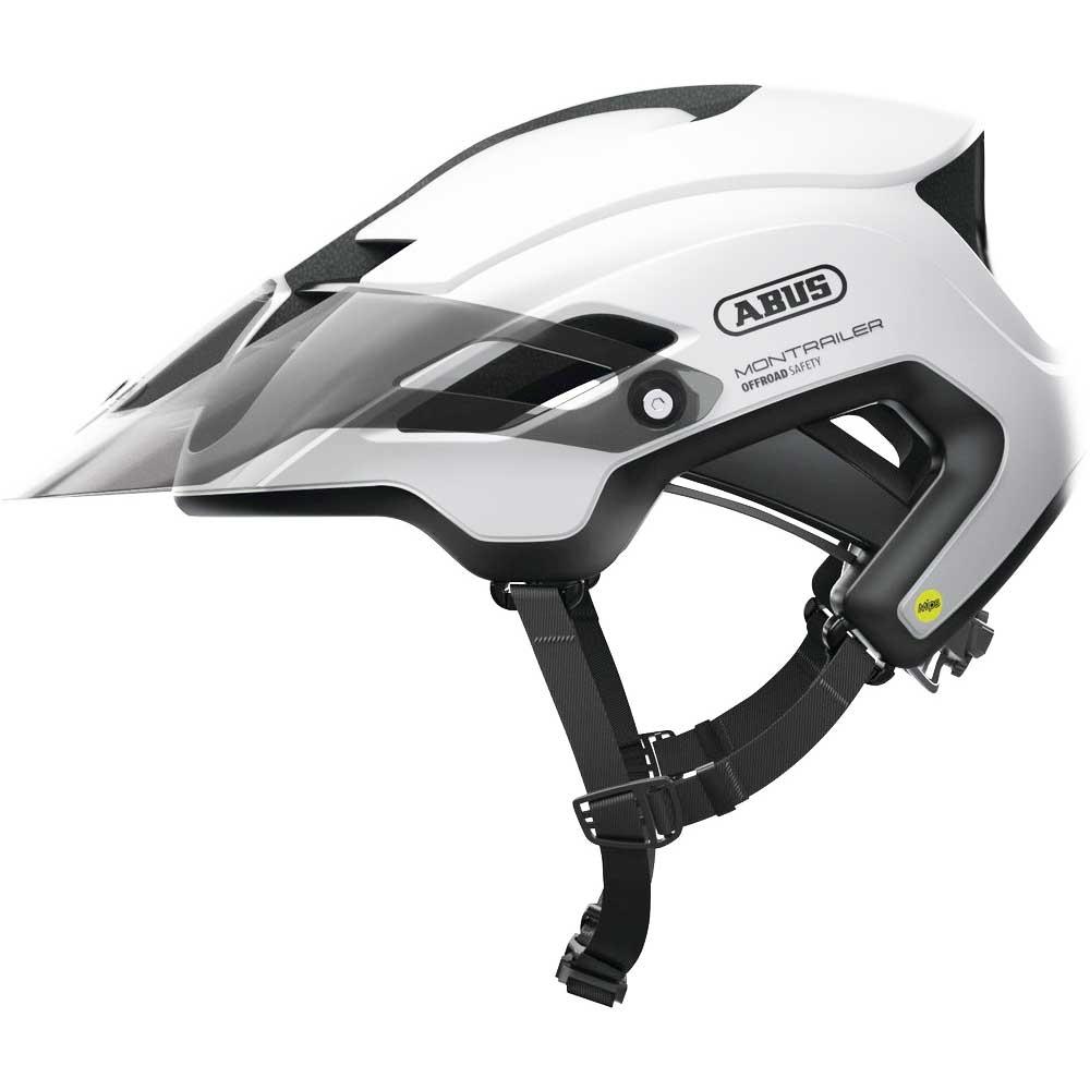 polar-white| Abus Mountainbike-Helm MonTrailer MIPS in Polar White