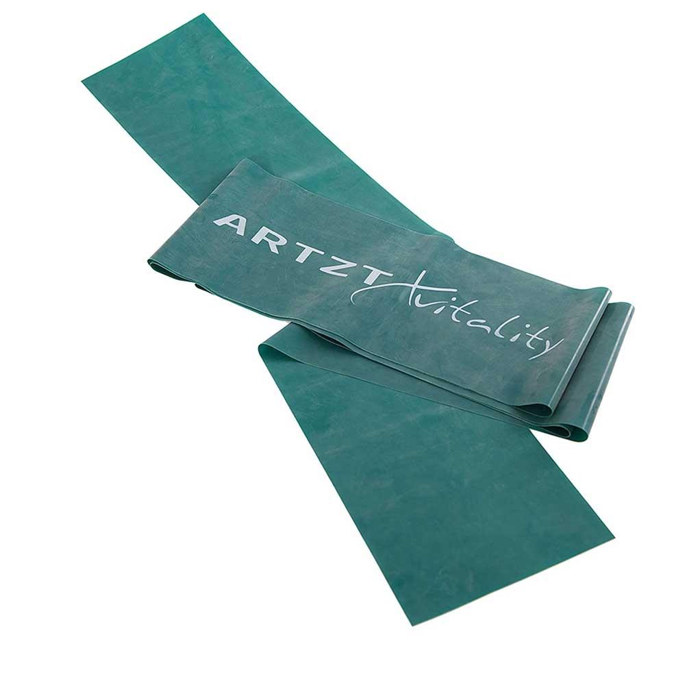 gruen-stark| ARTZT vitality Übungsband in Grün mit starker Bandstärke